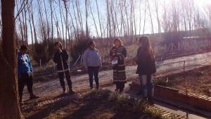 Germanier visitó los parajes rurales de Valle Verde y Peñas Blancas